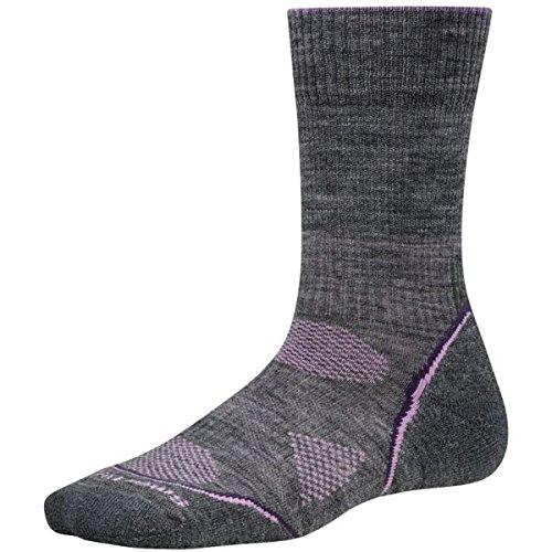 Womens Phd Outdoor Light (Smartwool Damen Socken Strümpfe Women's PhD Outdoor Light Crew Medium Gray/Desert Purple, S)