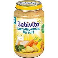 Bebivita - Kartoffel-Gemüse mit Pute Babynahrung Babybrei Glas ab 8. Monat - 220g