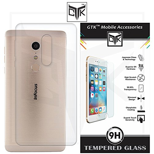 InFocus EPIC 1 Combo of Ultra Clear Thin Protective Soft TPU Back Cover + Premium HD Tempered Glass Screen Protector with Rounded Edges