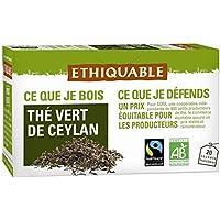 Ethiquable thé vert de Ceylan 20 sachets soit 36g - Livraison Gratuite pour les commandes en France - Prix Par...