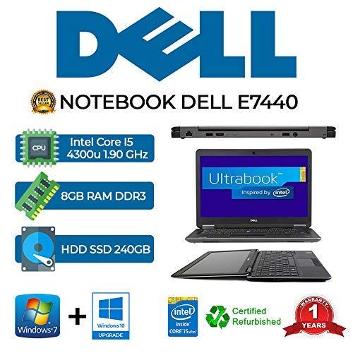 Ordenador portátil Dell E7440 Core I5 4300U/8GB/SSD