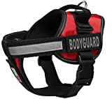 Dogline Unimax multifunktionsunterhemd Geschirr für Hunde und 2Abnehmbaren Bodyguard Patches, XS, rot