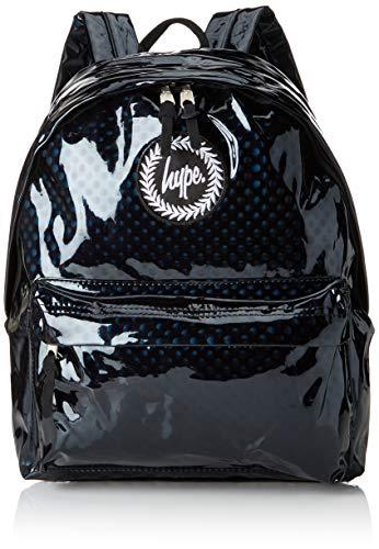 Hype Unisex-Erwachsene Metallic Polka Rucksack, Mehrfarbig (Black/White) 30x41x15 centimeters