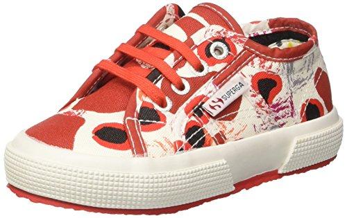 Superga Kinder-Unisex 2750-Fantasy Cotj Niedrige Sneaker Multicolore (Splash Red)