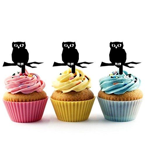 Halloween Owl Kuchenaufsätze Hochzeit Geburtsta Acryl Dekor Cupcake Kuchen Topper Stand für Kuchen Party Dekoration 10 Stück