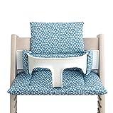 Blausberg Baby - Sitzkissen Kissen Polster Set für Stokke Tripp Trapp - Tropfen Blau