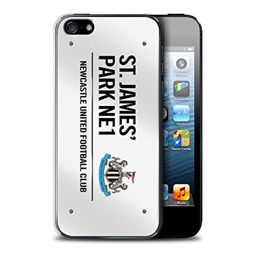 Offiziell Newcastle United FC Hülle / Case für Apple iPhone SE / Pack 6pcs Muster / St James Park Zeichen Kollektion Weiß/Schwarz