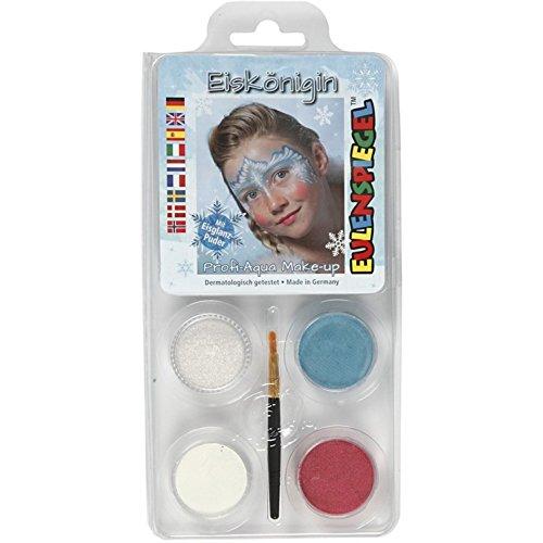 Eulenspiegel Motiv Set Eiskönigin bestehend aus 4 Farben und einem Pinsel