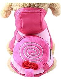 Ropa para Mascotas,Gusspower Abrigo Algodón de Invierno Sudaderas con Capucha Camisetas Mantener Caliente Mochila Linda Bolsa de Monedas Perro Mascota Ropa
