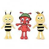 Play by Play Pack 3 Plüsch Die Biene Maja, Willi und Ameise Paul 24 cm Plüschtiere