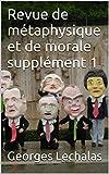Revue de métaphysique et de morale  supplément 1 (French Edition)