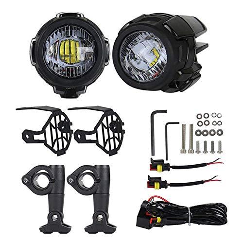Knowled Luces de Niebla de la Motocicleta LED, Lámparas Auxiliares 40W Lámparas...