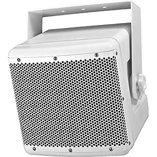 MONACOR PAB-82WP/WS Wetterfeste Hochleistungs-ELA-Lautsprecherbox 120 Watt weiß