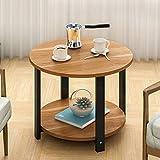Sofa Beistelltisch Couchtisch Runde Kleine Runde Tisch Moderne Tisch Ecke Telefon Schreibtisch 60 * 60 * 43 cm ( Farbe : Maple leaf color )