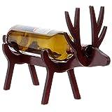 Porte-bouteille fabriqué à la main en bois de bouleau pressé, facile à assembler, contenant la plupart des bouteilles de vins et spiritueux.