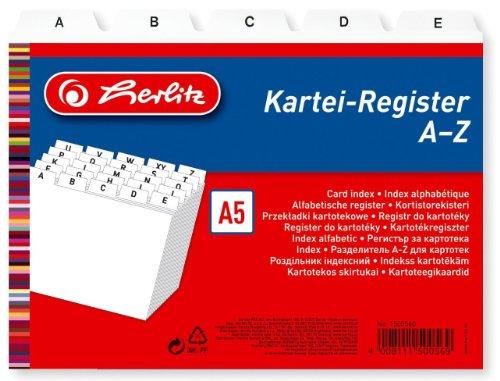 Preisvergleich Produktbild Herlitz 1500560 Karteiregister PP A5 weiß