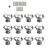 Schrank Knöpfe Kristall - 12 Stück 30 mm Schrankknöpfe Schubladenknöpfe Möbelknöpfe Kristall Möbelgriffe Möbelknauf Schrankgriffe für Küche Büro