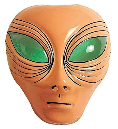 Widmann Maske für Kostüm - Verkleidung - Karneval - Halloween - Alien - Extraterrestre - Pink - Erwachsene - Frau - Mädchen