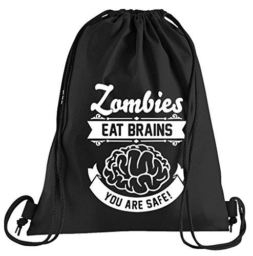 T-Shirt People Zombies Eat Brains Sportbeutel – Bedruckter -
