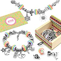 Queta Charm Bracelet Making Set Girl Craft Pearl Plated with Silver Chain Jewellery-Making Kits for Bracelet DIY Snake Chain Jewelry