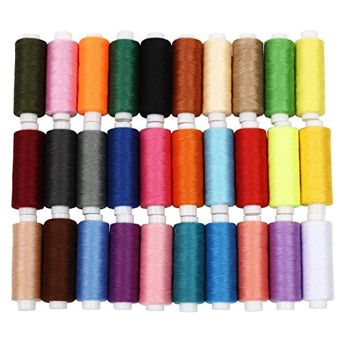 Soledì 30 o 60 Colori Fili Cucito Colorati in Poliestere Strumento per l'Artigianato Fai Da (Mano A Filo)