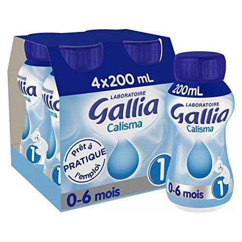 Laboratoire Gallia Calisma - Lait bébé 1er âge de 0 à 6 mois 4 x 200 ml - Pack de 6