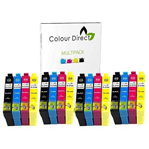Preisvergleich Produktbild 16 Colour Direct Kompatibel Druckerpatronen Ersatz für Epson WorkForce WF-3620DWF WF-3640DTWF WF-7110DTW WF-7610DWF WF-7620DTWF
