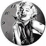 Tinas Collection Wanduhr neu Marilyn Monroe Face Küchenuhr Quarzuhr schwarz-weiß Bild
