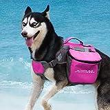 ThinkPet AdventureMore Hundetasche Doppeltasche für Hound Reisen Outdoor Hund Rucksack Reflektierende Satteltasche Hund Rucksack für mittelgroße große Hunde Camping Wandern Ausrüstung
