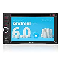 Pumpkin 6.2 Inch Android 6.0 Stereo with CD DVD Player Double Din Head Unit Support GPS, Bluetooth 4.0, WIFI 3G, DAB+, Phone Link, Radio RDS, SWC, 64GB USB SD, Subwoofer, Cam-In, OBD