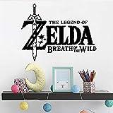 Ajcwhml Zelda Autoadhesivo Vinilo Pared Arte calcomanía Estilo de Dibujos Animados Sala Impermeable Empresa Escuela decoración calcomanía