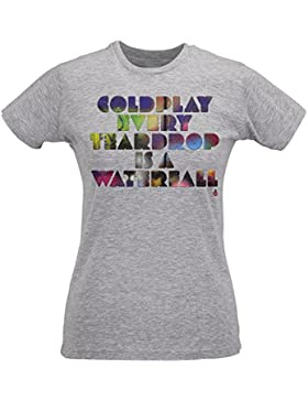 Camiseta Mujer Slim Coldplay - Maglietta 100% algodòn ring spun LaMAGLIERIA