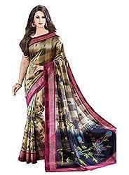 Vivera Women's Cotton Saree with blouse piece