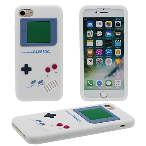 iPhone 7 Coque, Mince et léger Prime Doux Silicone Plastique Original Classique Game Boy 3D Forme Serie Housse de Protection Case Anti Choc pour Apple iPhone 7 4.7 inch blanc