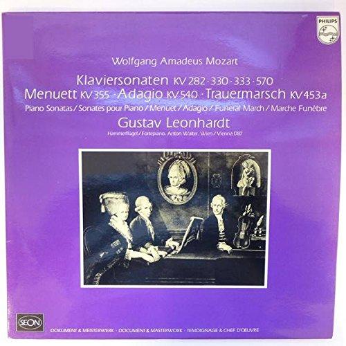 Wolfgang Amadeus Mozart , Gustav Leonhardt - Klaviersonaten KV 282, 330, 333, 570, Menuett VK 355, Adagio KV 540, Trauermarsch KV 453a - Philips - 6775 002