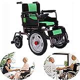 Gxet Sedie a rotelle elettriche Pieghevole Potere Sedia a rotelle Manuale Leggero Dual Control System/Elettrico di commutazione Double Motor per disabili e Anziani Emiplegia Paraplegia