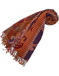 LORENZO CANA - Luxus Damen Pashmina 100% reine Lammwolle Damenschal Wollschal , 70 cm x 180 cm - 78195