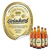 Flaschenetikett als Einladung (40 Stück) - Bier in Gelb – Bieretikett für Bierflaschen