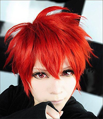 LanTing Cosplay Perücke Uta no Prince Ittoki Otoya Red Frauen Cosplay Party Fashion Anime Human Costume Full wigs Synthetic Haar Heat Resistant Fiber (Ittoki Otoya Cosplay Kostüm)