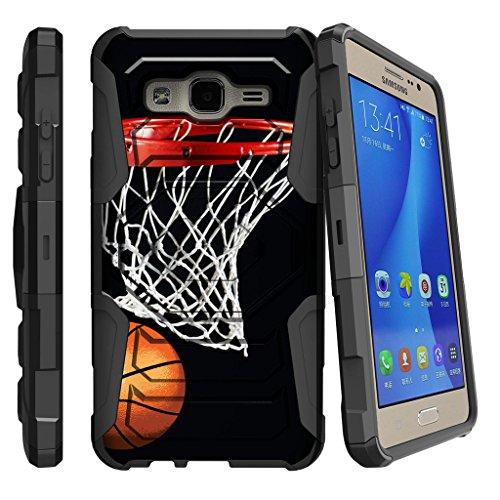 Miniturtle Schutzhülle für Galaxy On5, Samsung O5 Clip, G550 Hülle, [Armor Reloaded] Defender Guard mit Ständer & Bildschirmschutzfolie, Basketball Swish