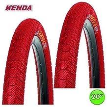 "2x Kanda Krackpot Cámaras para Bicicleta 20 x 1.95 50-406 - 01022006 - rojo, 20"""