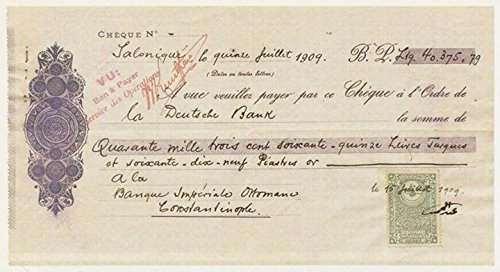 poster-a3-turkey-turkiye-deutsche-bank-cheque