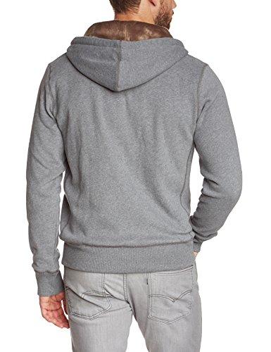 Tommy Hilfiger - Sacha Hdd Z-Thru L/S Rf, Felpa da uomo,  manica lunga, collo con cappuccio grigio(Grau (SILVER FOG HTR 043))