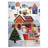 Kompanion Set di Decorazioni per Pareti di Natale Gigante Casa Vacanze Decorazioni Ufficio Sfondo Fotografico di Natale Design Villaggio di Babbo Natale