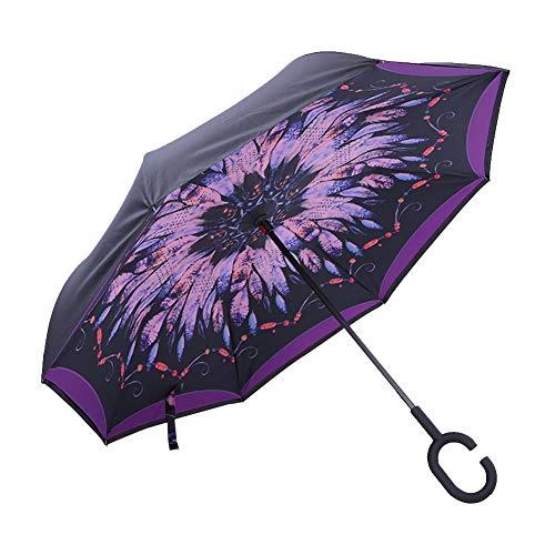 Doble capas Reverse Folding paraguas Sunpentown impermeable