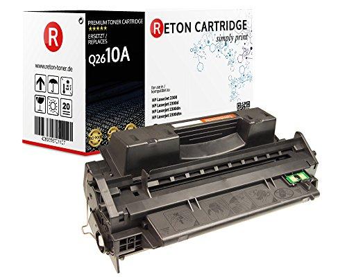 Original Reton Toner, kompatibel, Schwarz für HP 2301, HP LaserJet, 2300, 2300D, 2300DN, 2300DTN, 2300L, 2300N (Q2610A), Schwarz 6000 Seiten (6000 Yield Q2610a)