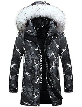 MHGAO Invierno Nuevo estilo de lana larga Padded Collar Capa Caliente , gray , xxxl