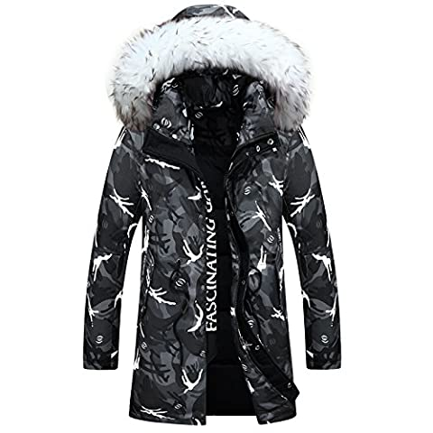 Hiver New Style Wool long collier de manteau chaud rembourré , gray , s