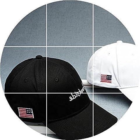 Le drapeau Américain Hat Hat MEN'S AND WOMEN'S Summer Outdoor Parasol Chapeau - Casquette réglable taille Casquette noire réglable étudiant