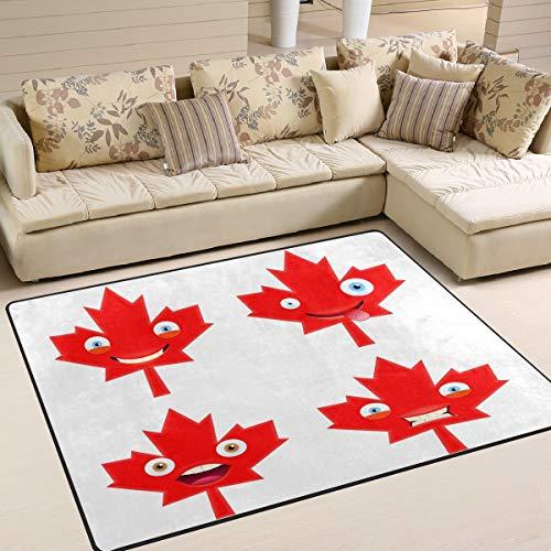 Schlafzimmer Ahorn Schlafzimmer-set (Tenboya Area Rug Canada Day Emojis Set aus Ahorn-Mustern, Esszimmer, Teppich, Schlafzimmer, Fußmatte, 120 x 160 cm, Textil, Multi, 150x220cm (5' x 7'feet))